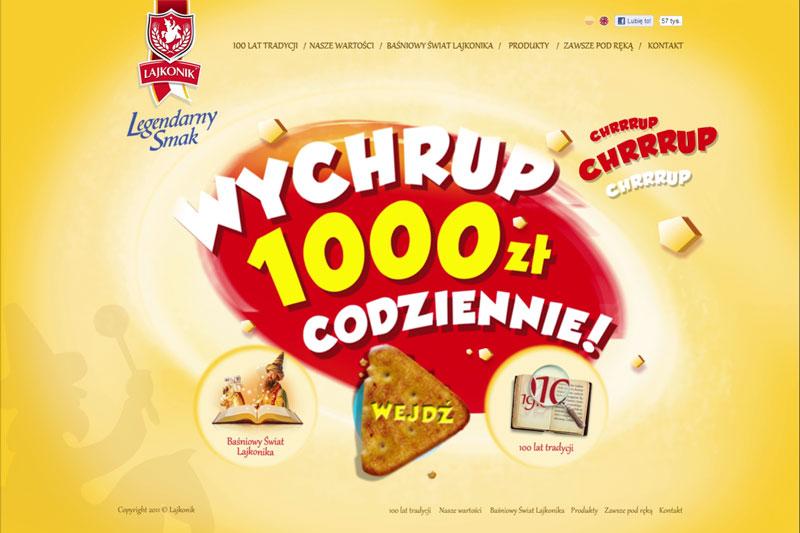 Lajkonik – animowane tło strony www